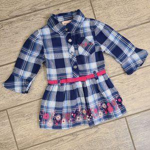 Baby plaid dress top Little Lass 18M